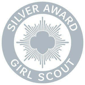 Girl Scout Silver Award pin